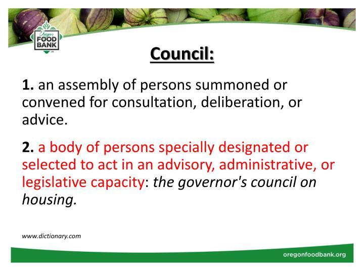 Council: