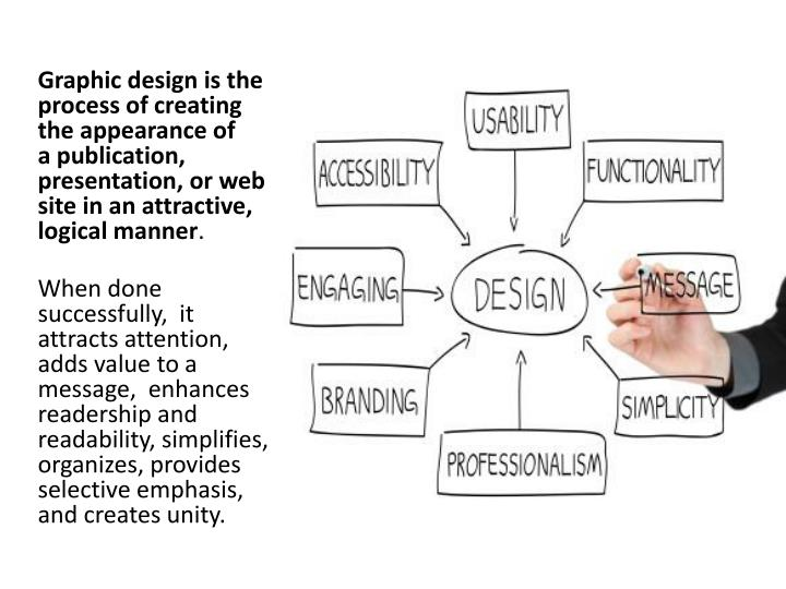 Graphic design is the process of creating the appearance of     a publication, presentation, or web ...