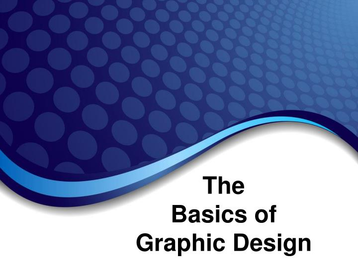 The basics of graphic design