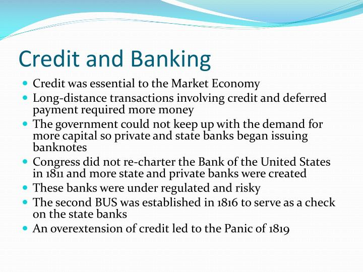 Credit and Banking