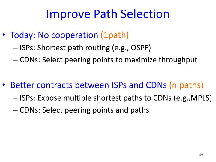 Improve Path Selection