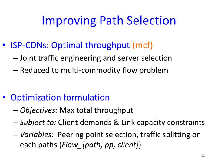 Improving Path Selection