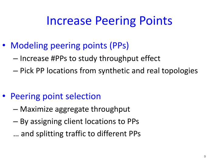 Increase Peering Points