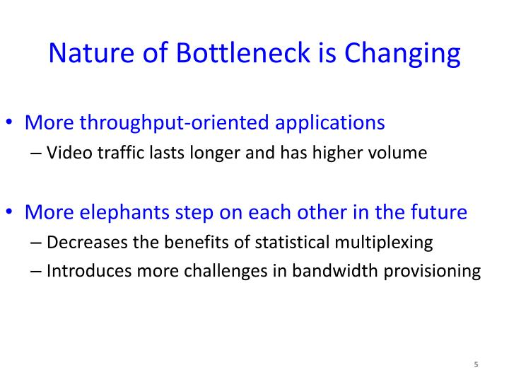 Nature of Bottleneck is Changing