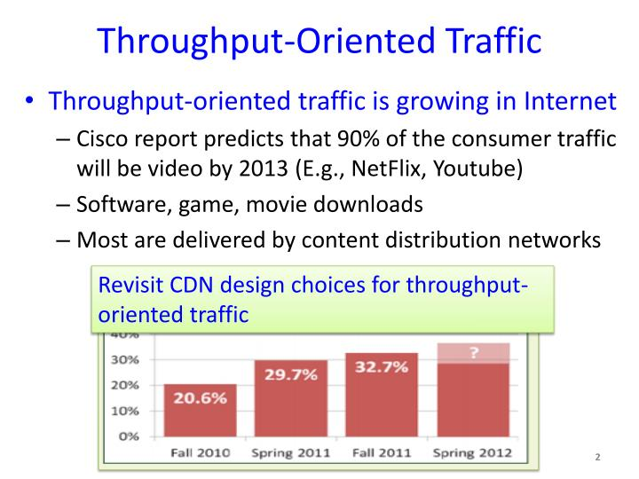 Throughput-Oriented Traffic