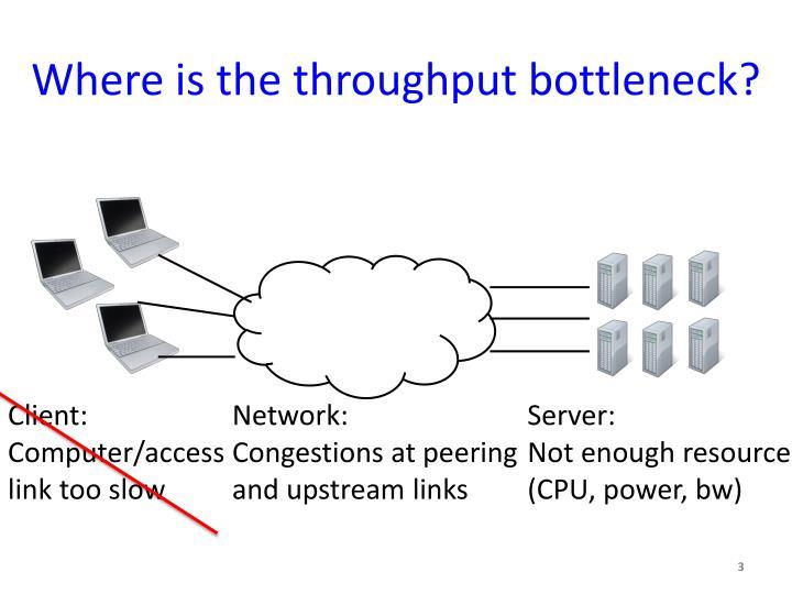 Where is the throughput bottleneck?