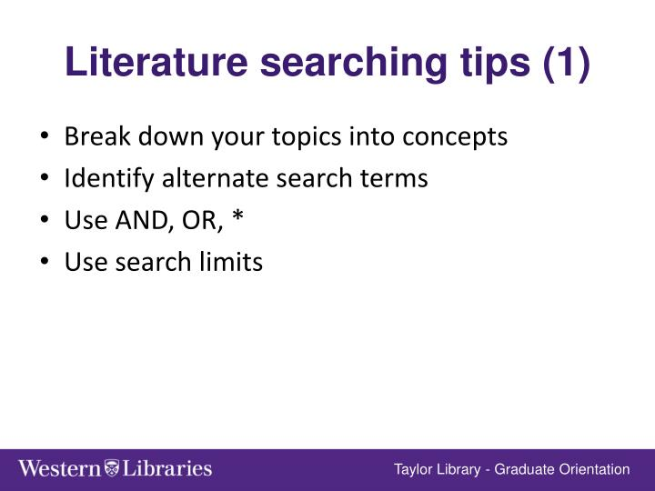 Literature searching tips (1)