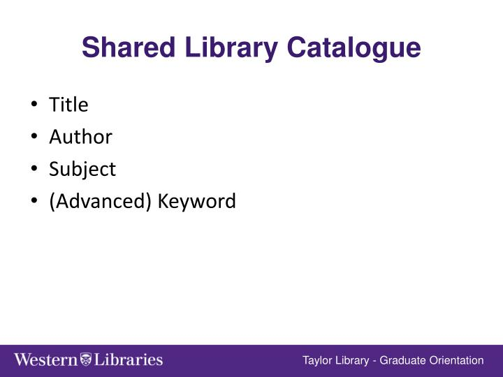 Shared Library