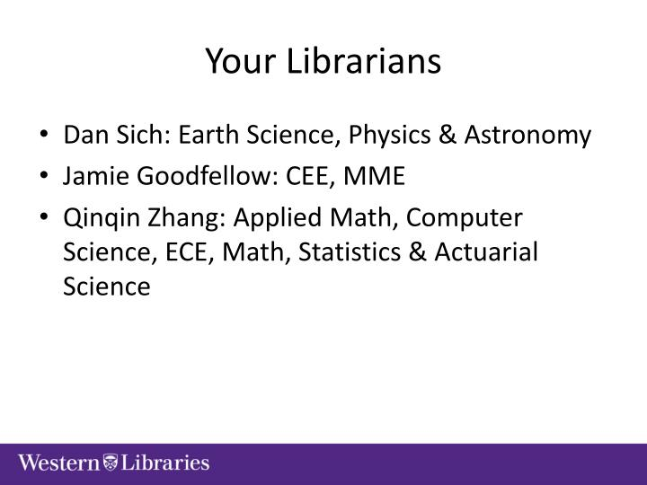 Your Librarians