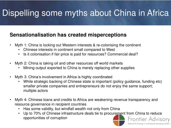 Dispelling some myths about China in Africa