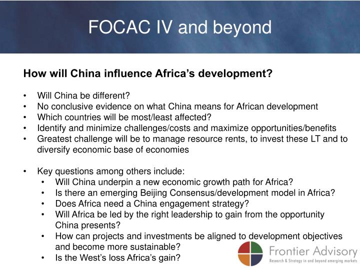 FOCAC IV and beyond