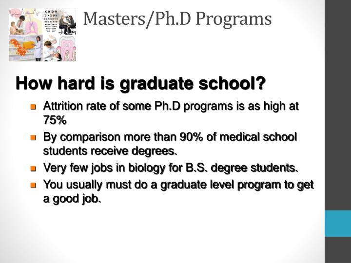 Masters/Ph.D Programs