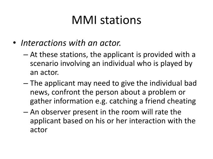 MMI stations