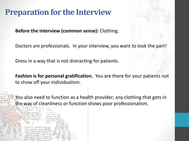 Preparation for the Interview