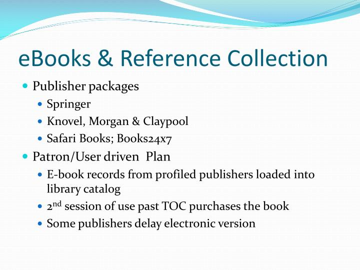 eBooks & Reference Collection