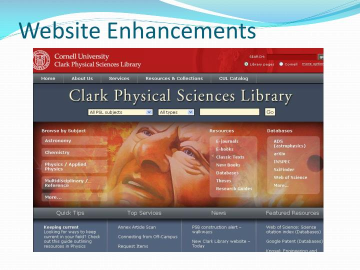Website Enhancements