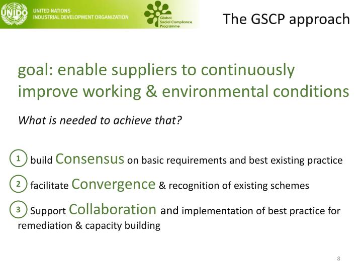 The GSCP approach