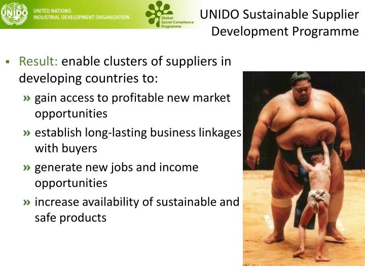 UNIDO Sustainable Supplier Development Programme
