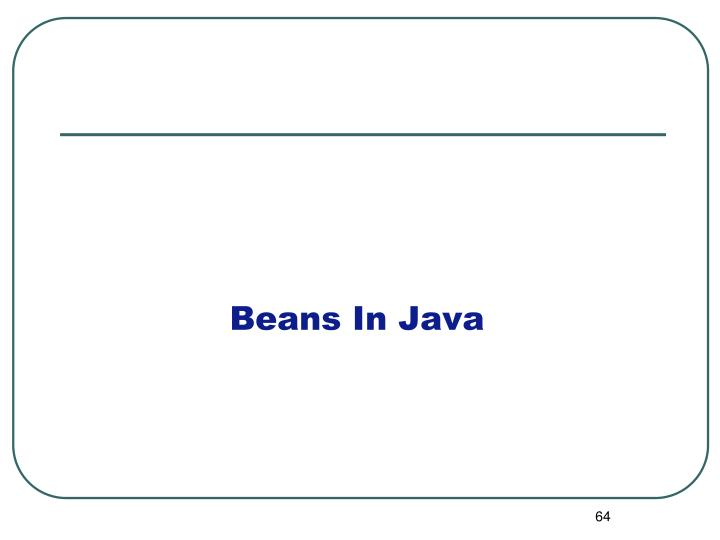 Beans In Java