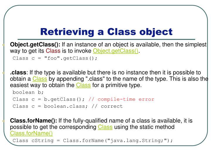 Object.getClass