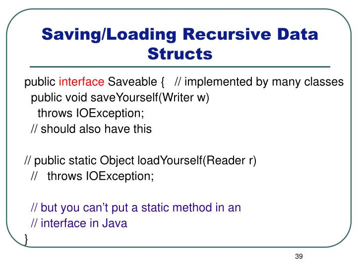 Saving/Loading Recursive Data