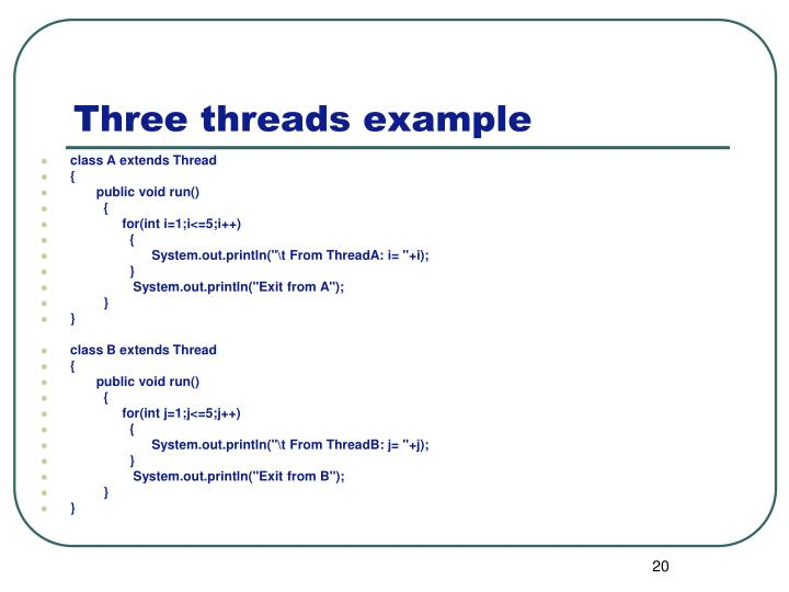 Three threads example