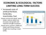 economic ecological factors limiting long term success