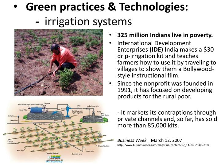 Green practices & Technologies:
