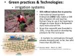green practices technologies irrigation systems