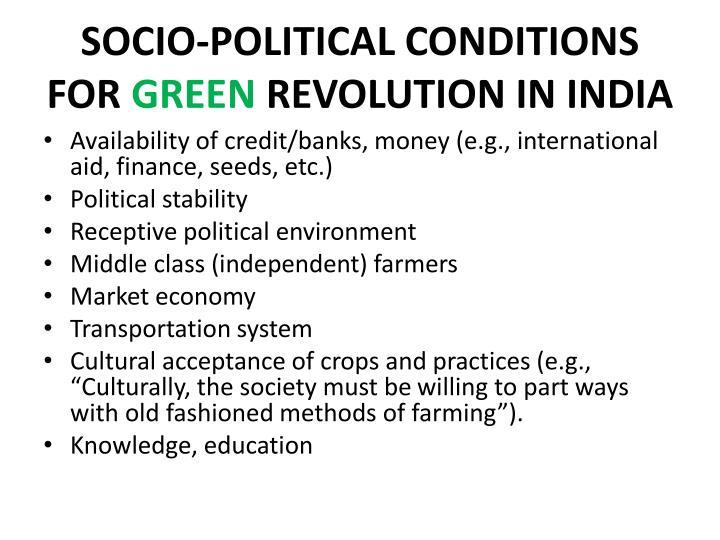 SOCIO-POLITICAL CONDITIONS