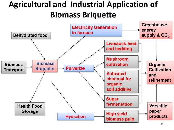 Agricultural and  Industrial Application of Biomass Briquette