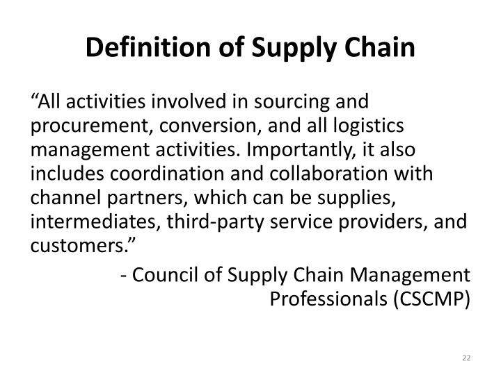 Definition of Supply Chain