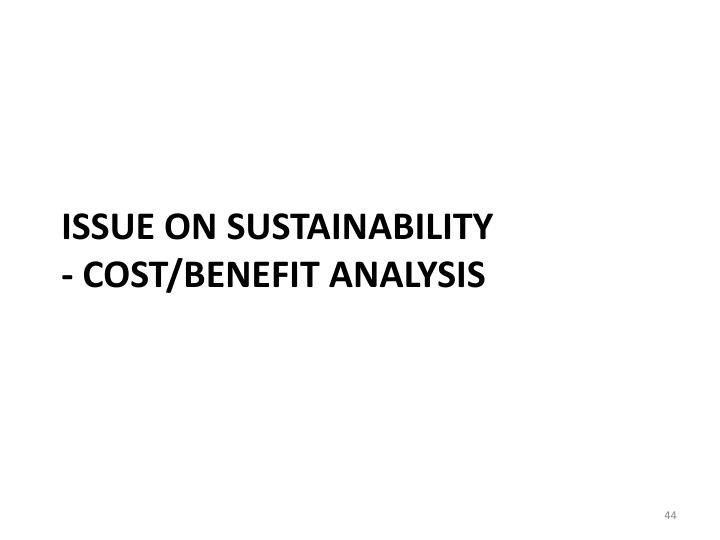 Issue on SUSTAINABILITY