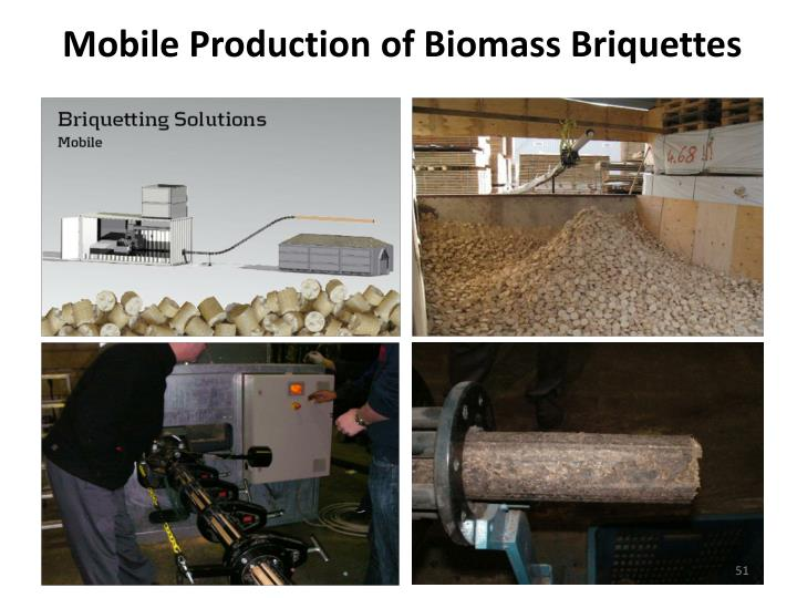 Mobile Production of Biomass Briquettes