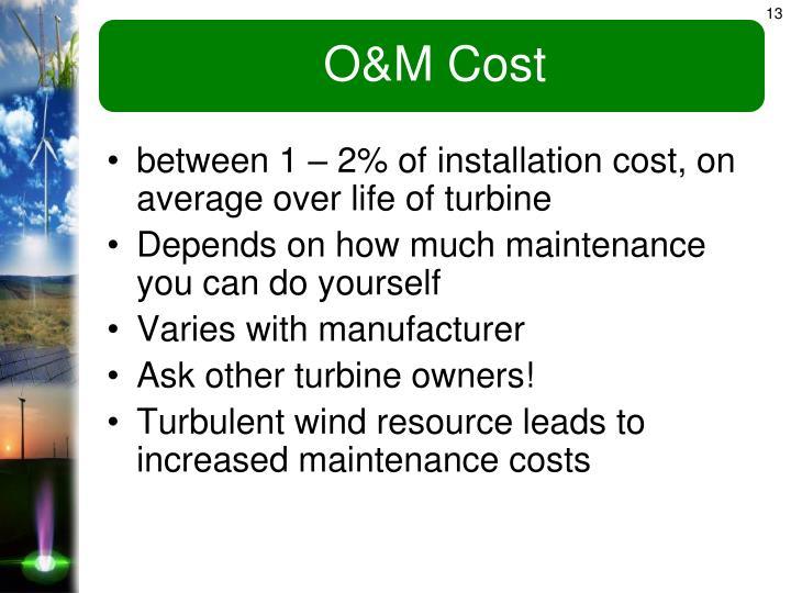 O&M Cost