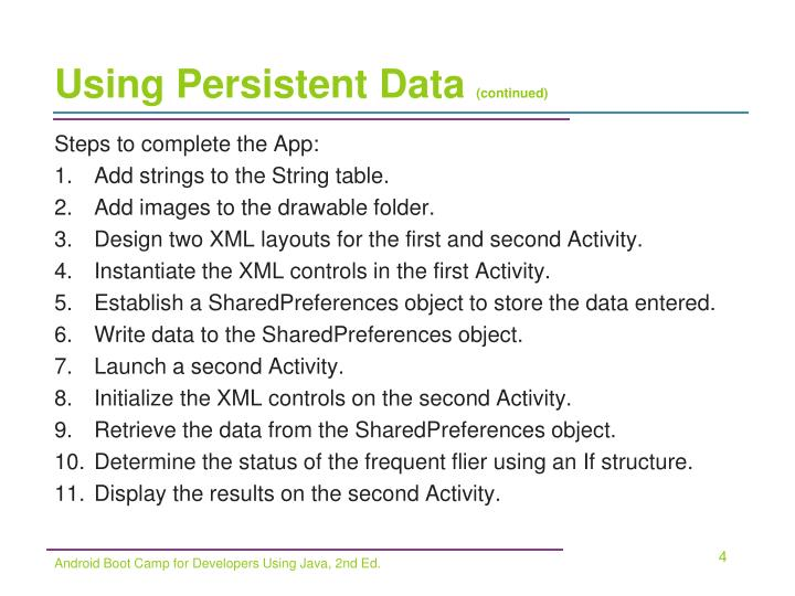 Using Persistent