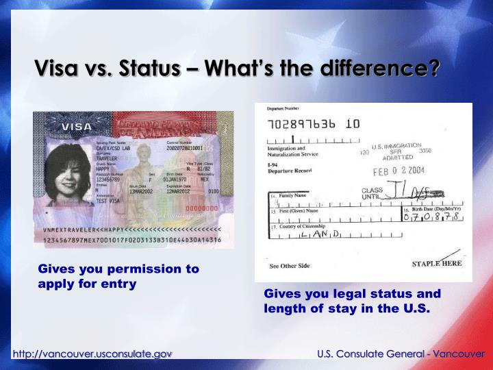 Visa vs. Status – What's the difference?