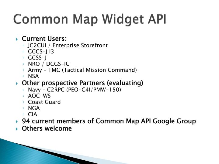 Common map widget api1