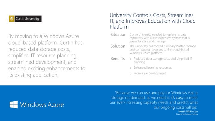University Controls Costs, Streamlines IT, and Improves Education with Cloud Platform
