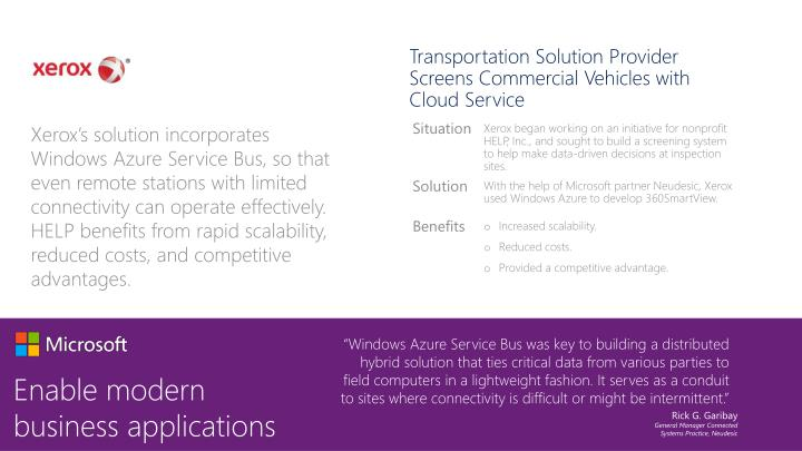Transportation Solution Provider Screens Commercial Vehicles with Cloud Service