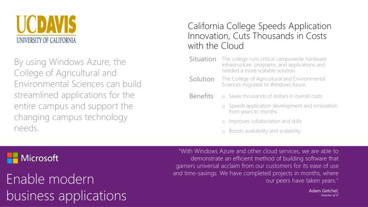 California College Speeds Application Innovation, Cuts Thousands in Costs with the Cloud