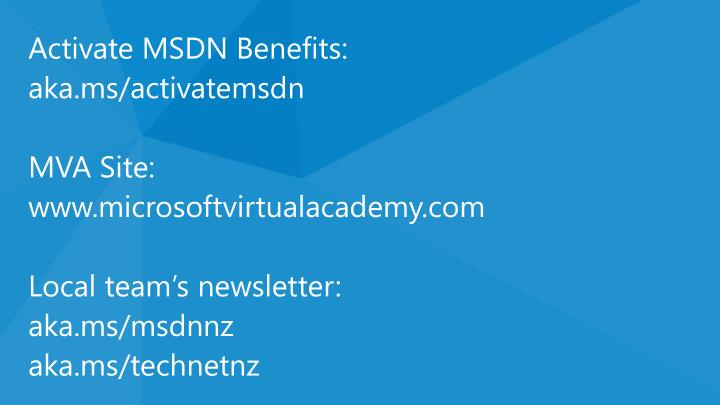 Activate MSDN Benefits: