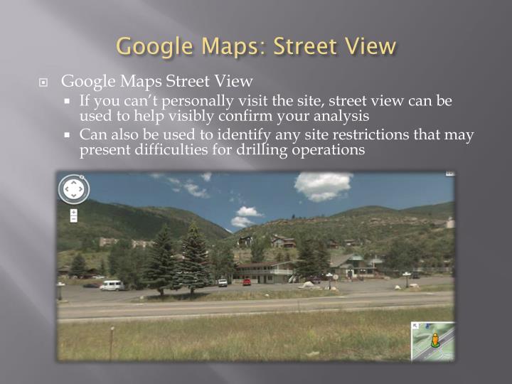 Google Maps: Street View