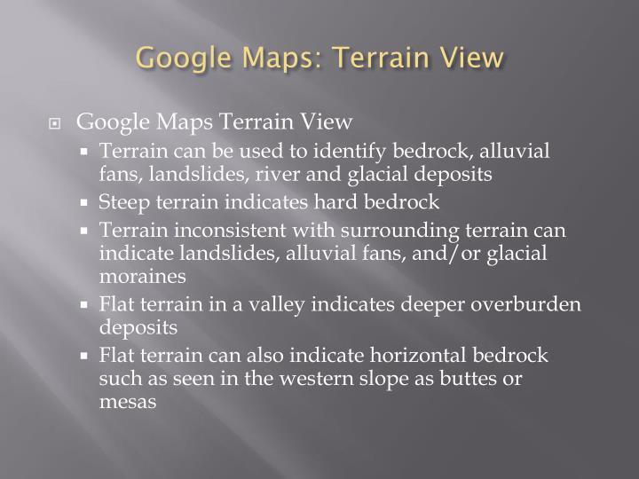 Google Maps: Terrain View