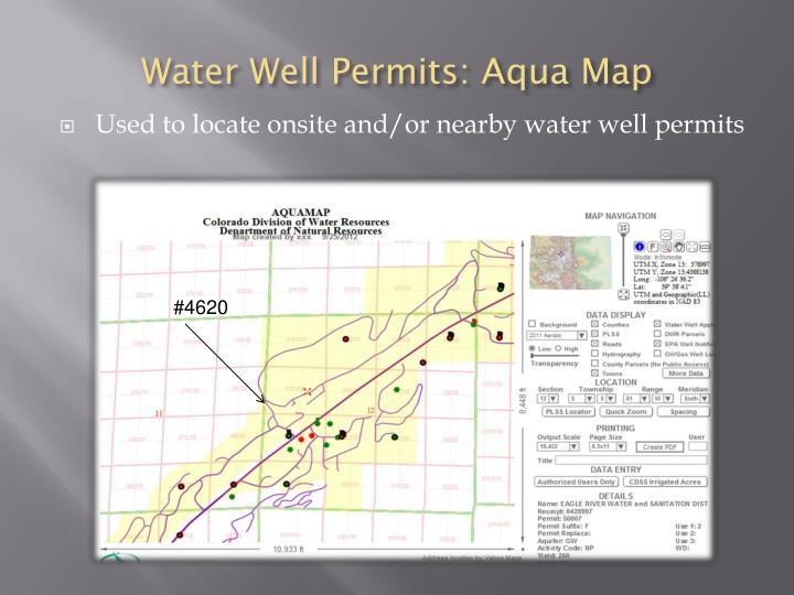 Water Well Permits: Aqua Map