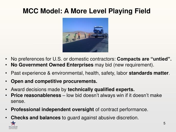 MCC Model: A