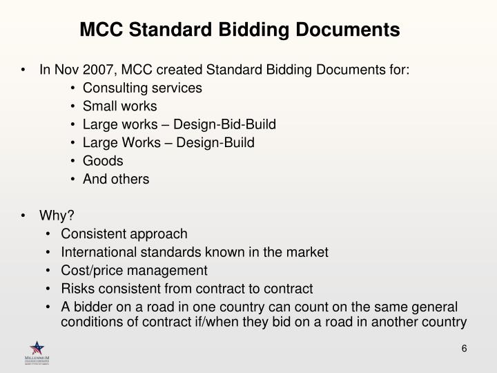 MCC Standard