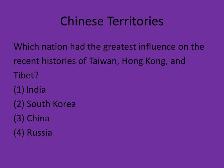 Chinese Territories