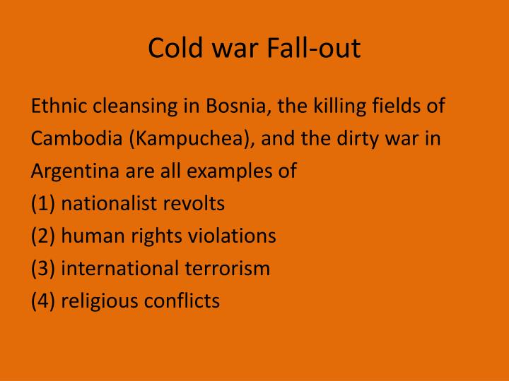 Cold war Fall-out