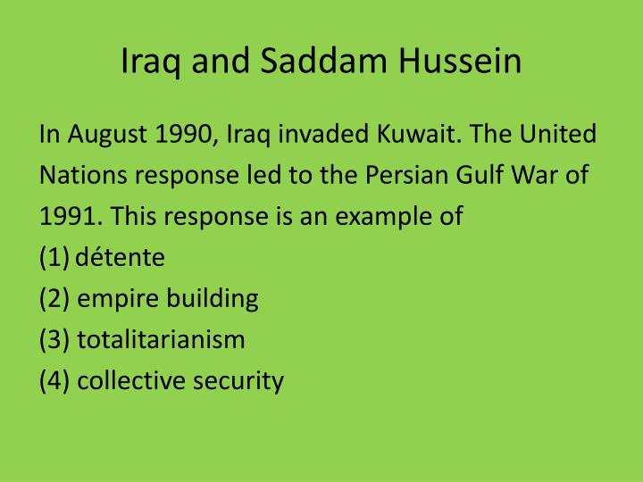 Iraq and Saddam Hussein